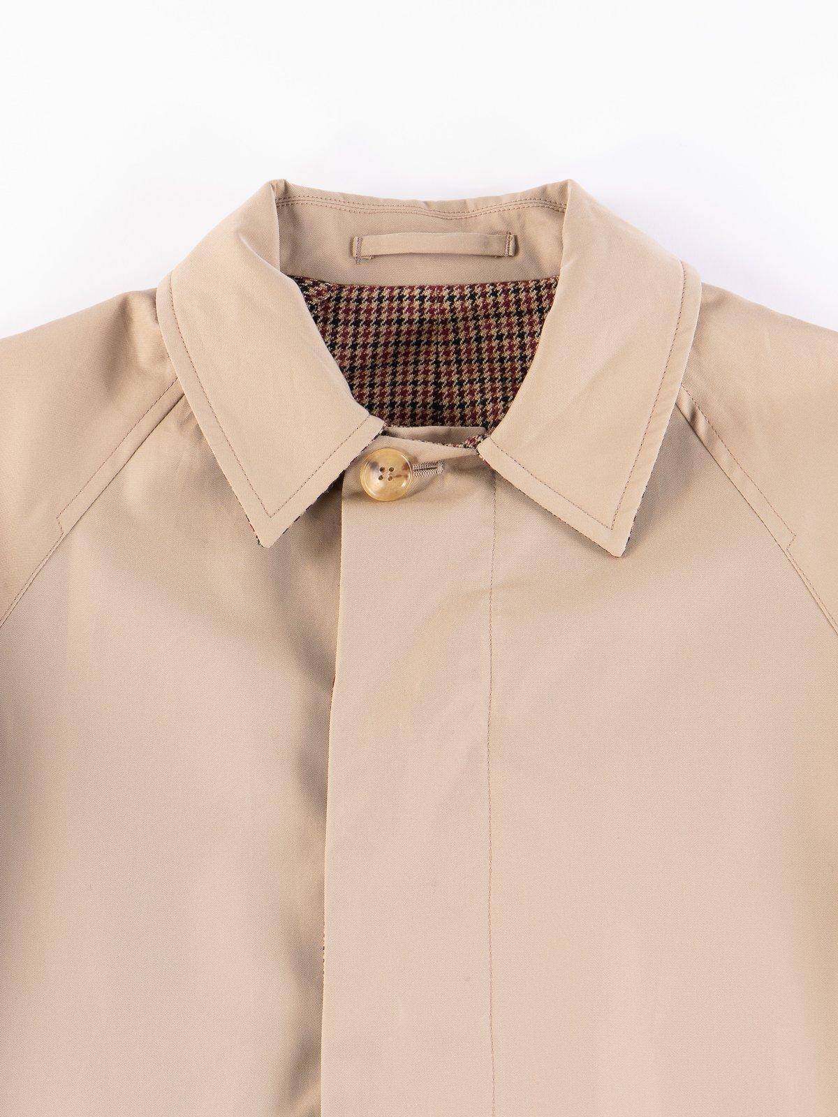 Light Khaki/Gunclub Reversible Balmacaan Coat - Image 4