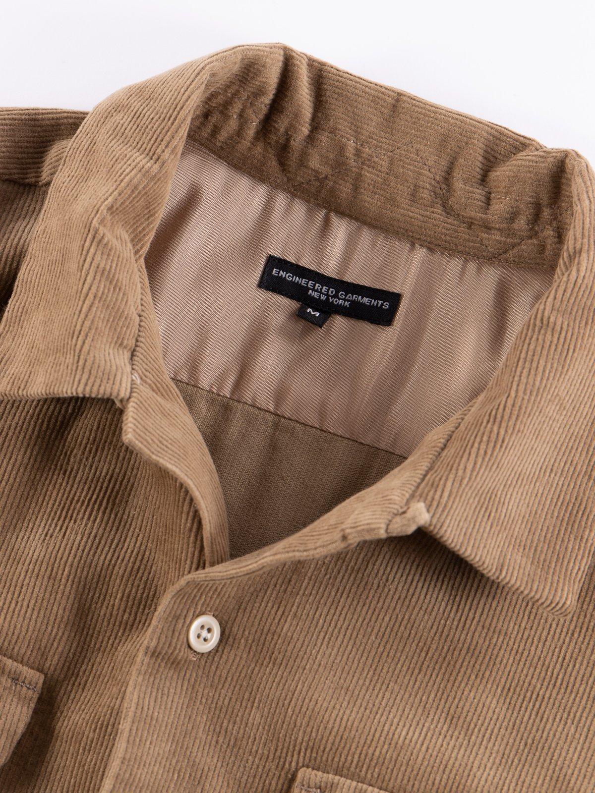 Khaki 14W Corduroy Classic Shirt - Image 6