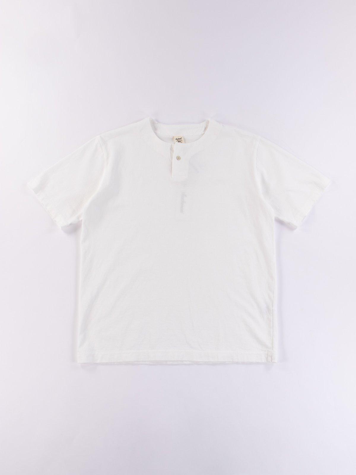 White Henley T–Shirt - Image 1
