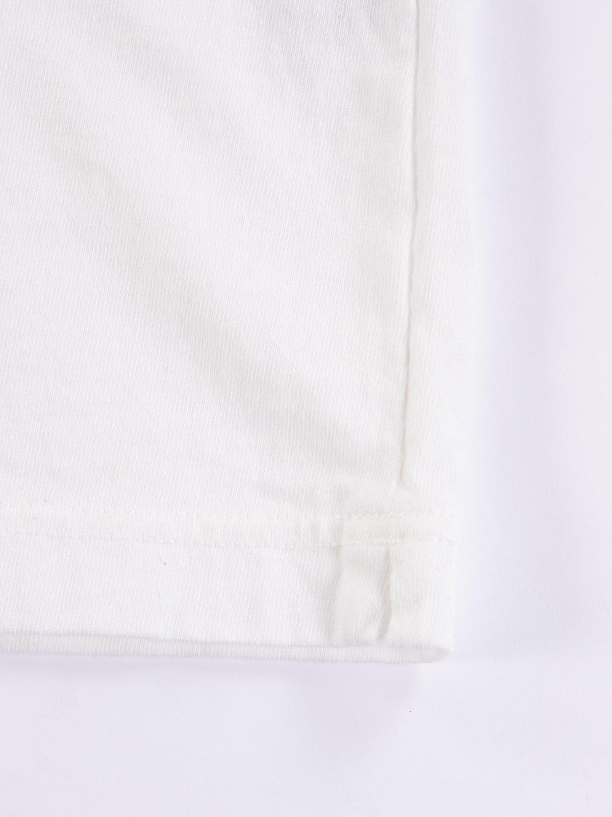 White Henley T–Shirt - Image 5