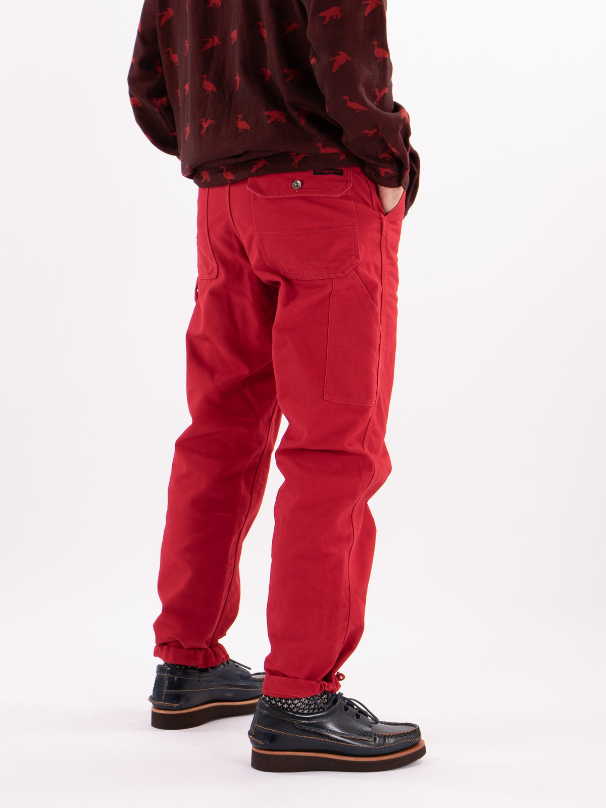Red 12oz Duck Canvas Logger Pant - Image 2