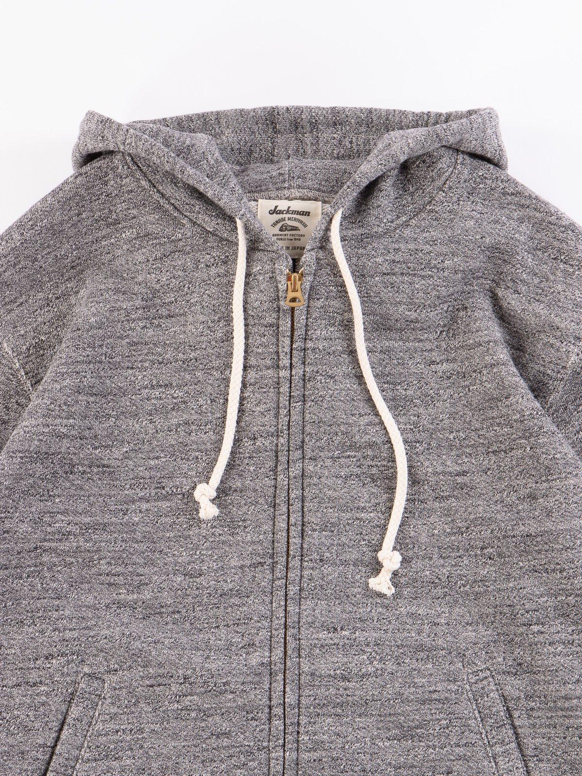 Charcoal GG Full Zip Sweatshirt - Image 3