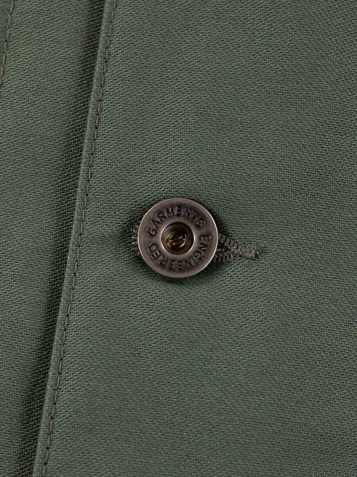 Olive Reversed Sateen Shop Coat - Image 4