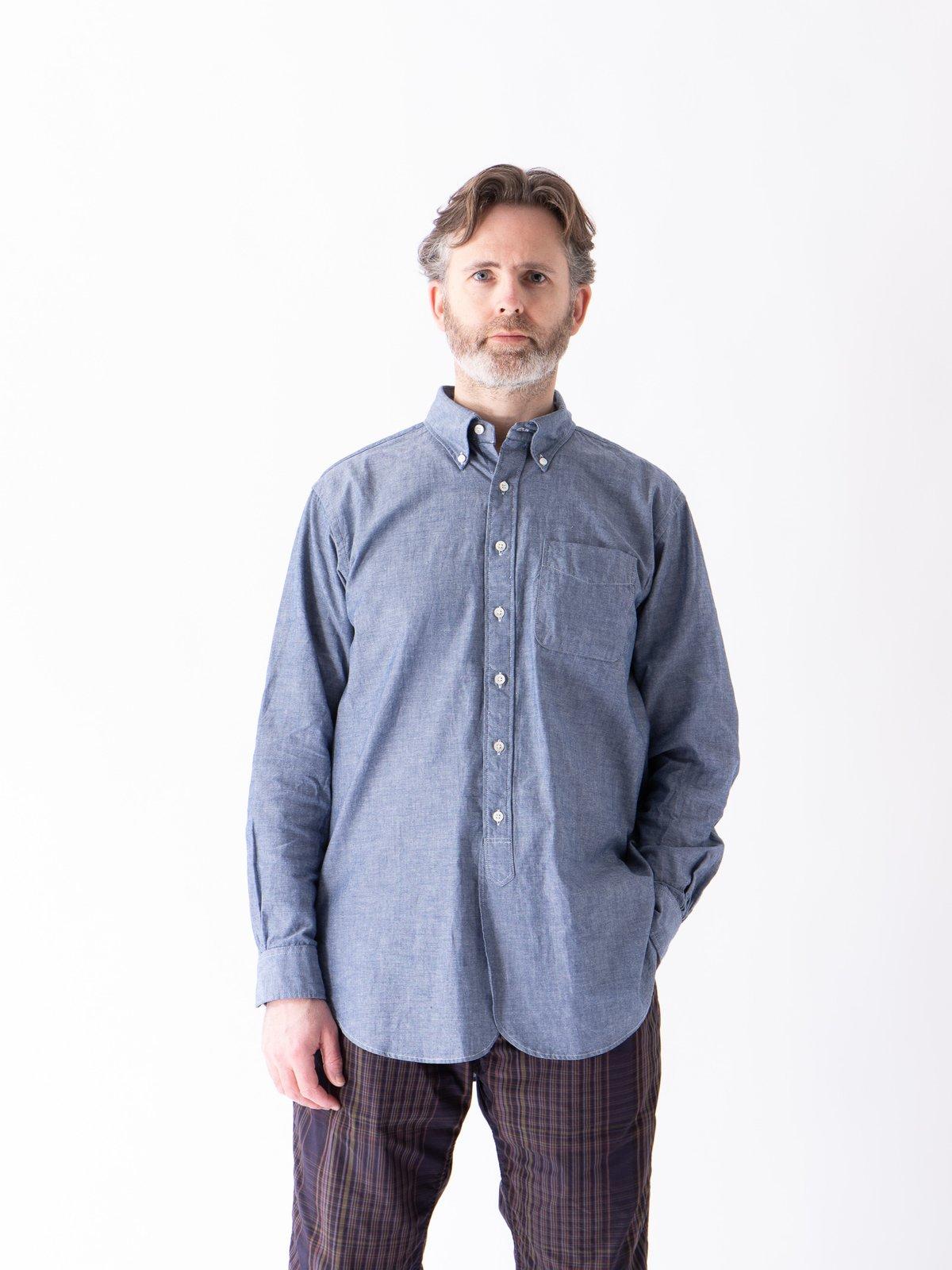 Blue Cotton Chambray 19th Century BD Shirt - Image 2