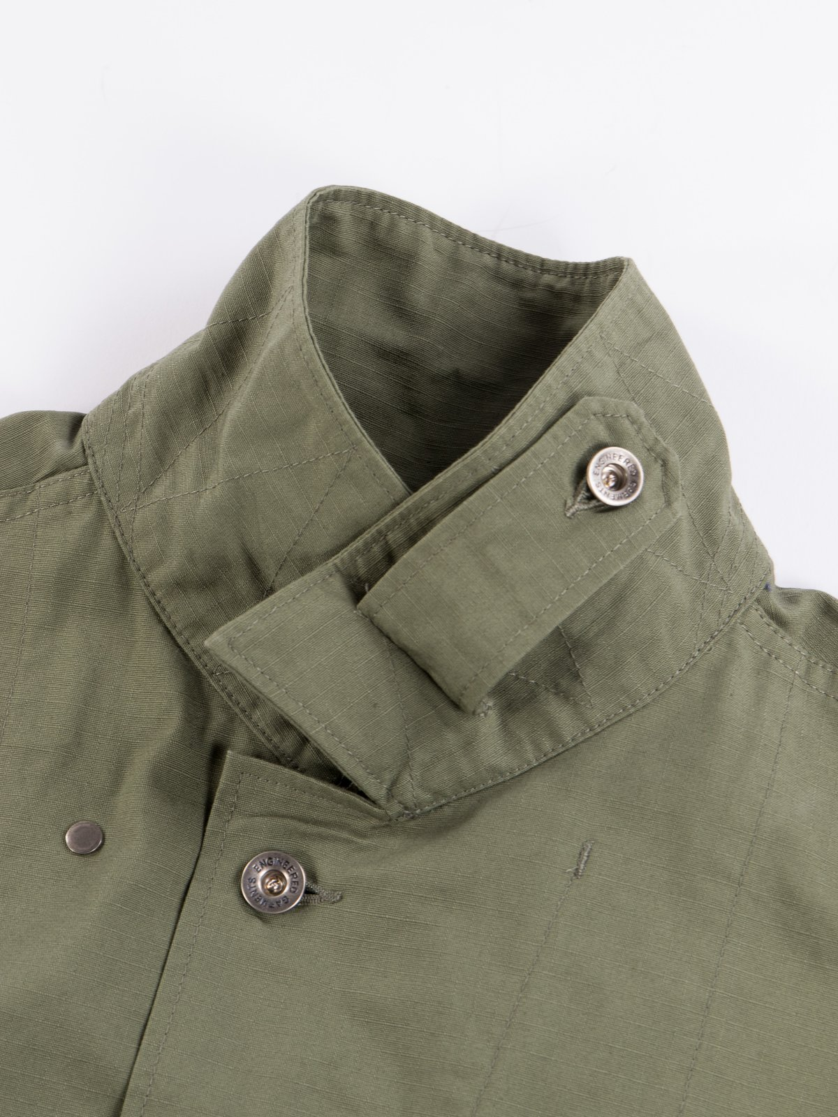 Olive Cotton Ripstop M43/2 Shirt Jacket - Image 6