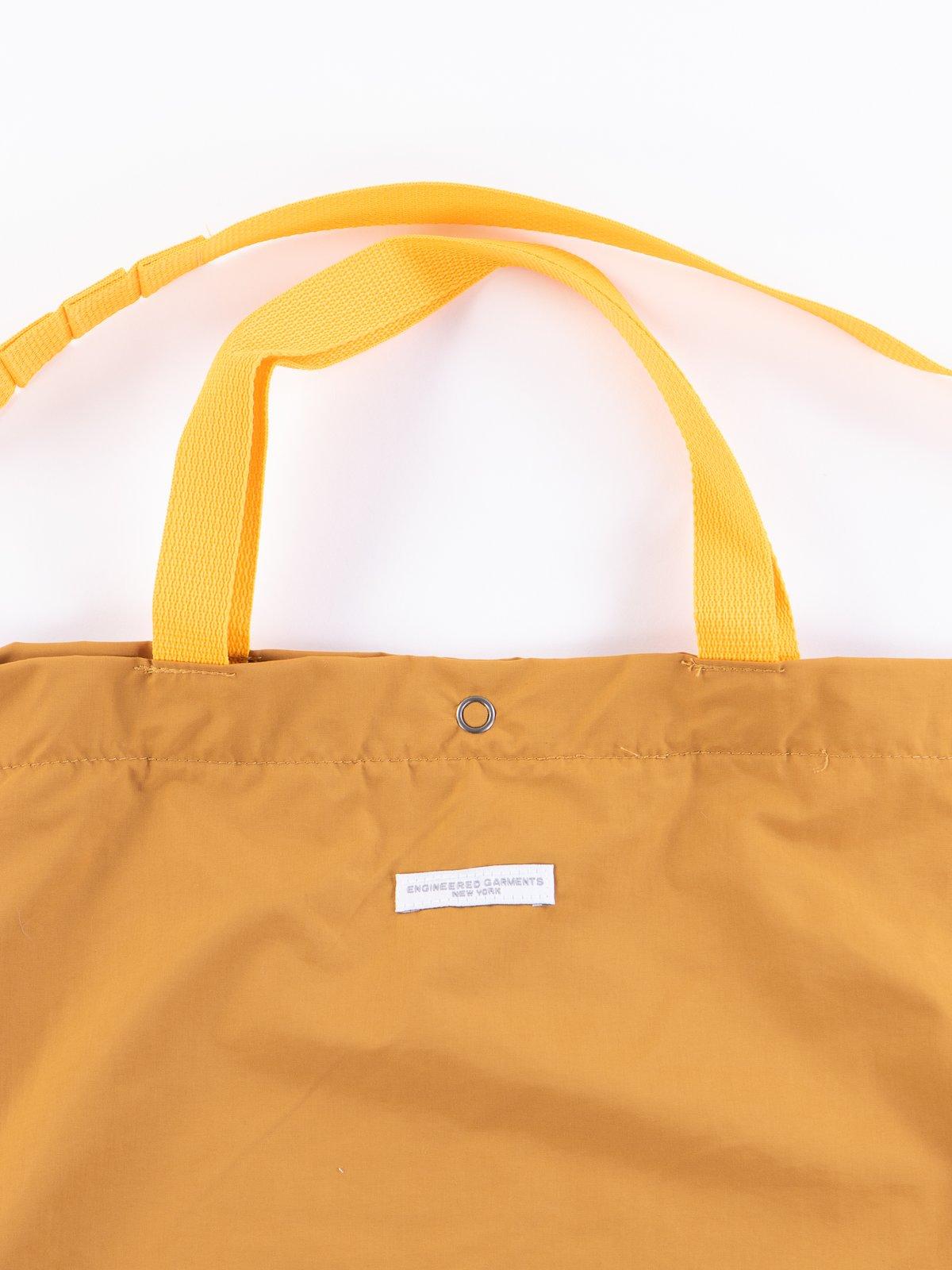 Mustard Acrylic Coated Nylon Taffeta Carry All Tote - Image 3