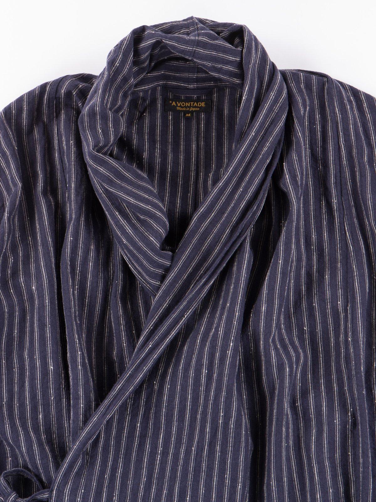 Dark Navy Stripe Robe Jacket - Image 2