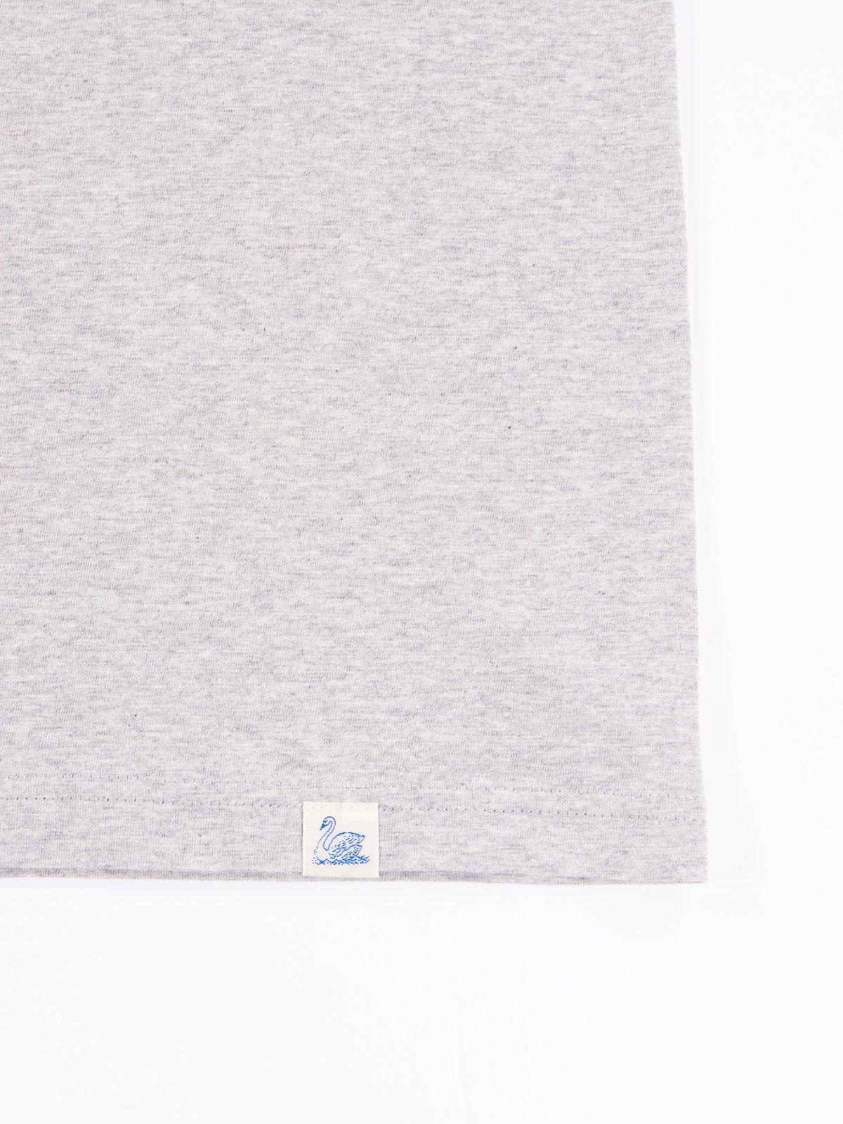 Grey Melange Good Basics CTOS01 Oversized Crew Neck Tee - Image 5