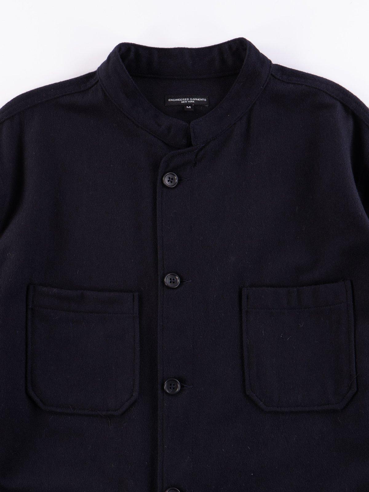 Dark Navy Wool Cotton Flannel Dayton Shirt - Image 3