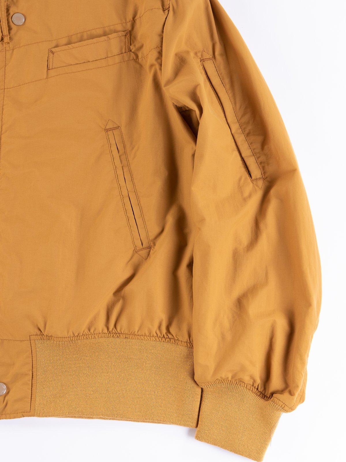 Mustard Acrylic Coated Nylon Taffeta Aviator Jacket - Image 4