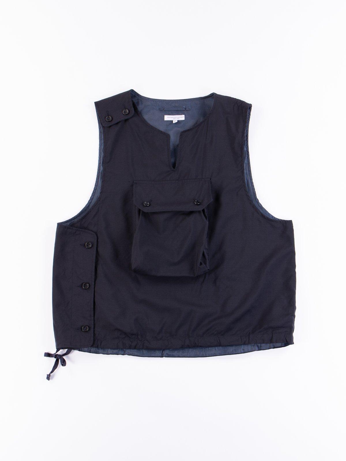 Dark Navy Tropical Wool Cover Vest - Image 1