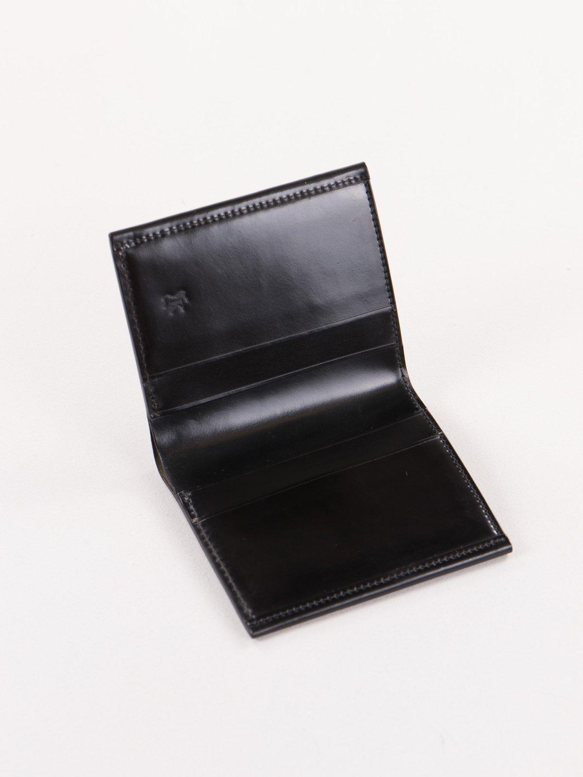Black Horween Cordovan 2–2 Wallet - Image 2