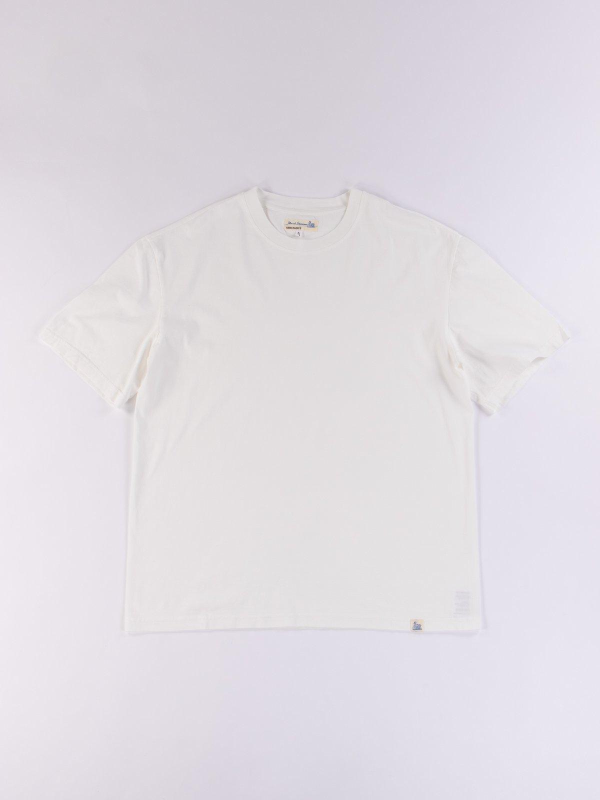 White Good Basics CTOS01 Oversized Crew Neck Tee - Image 1