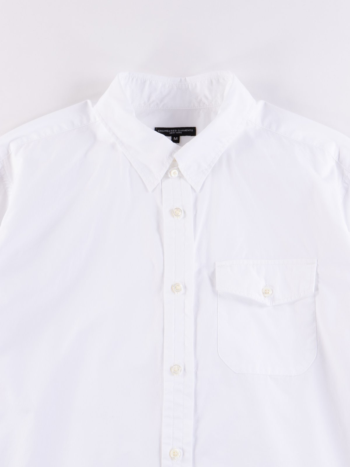 White 100's 2Ply Broadcloth Tab Collar Shirt - Image 3
