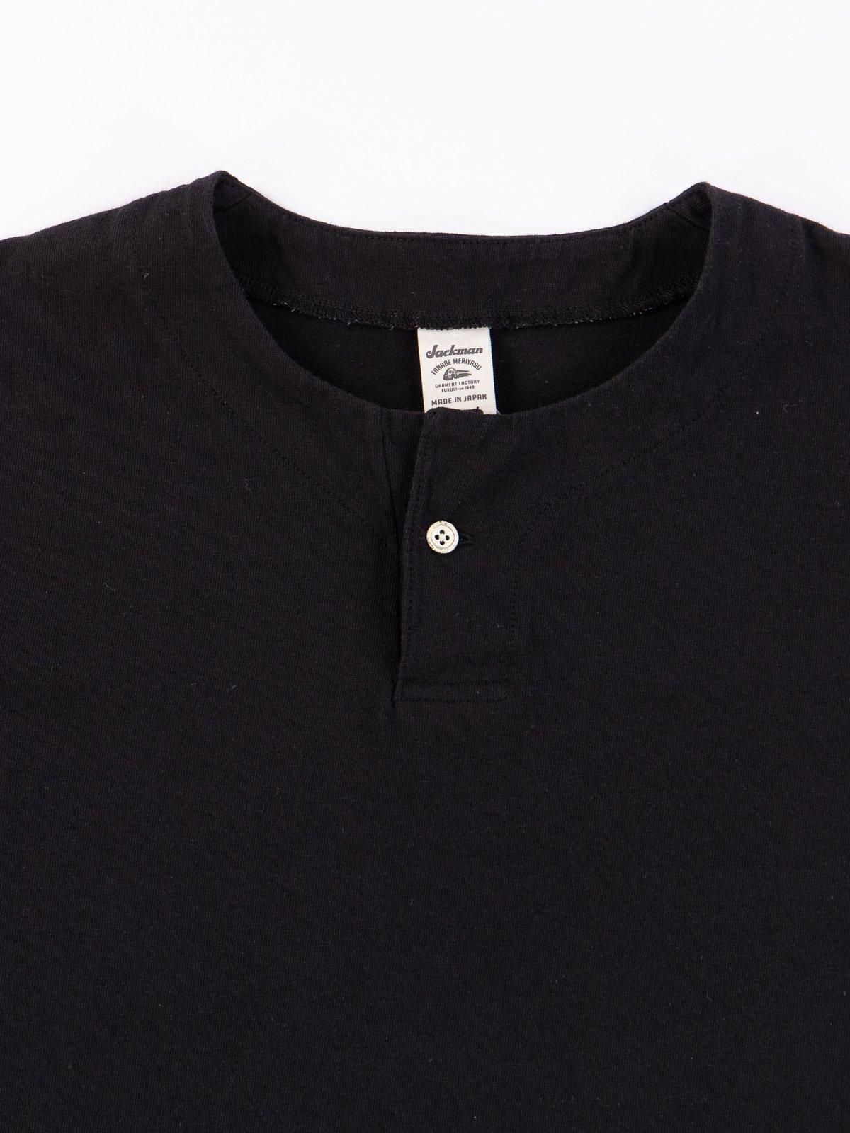 Black Henley T–Shirt - Image 3