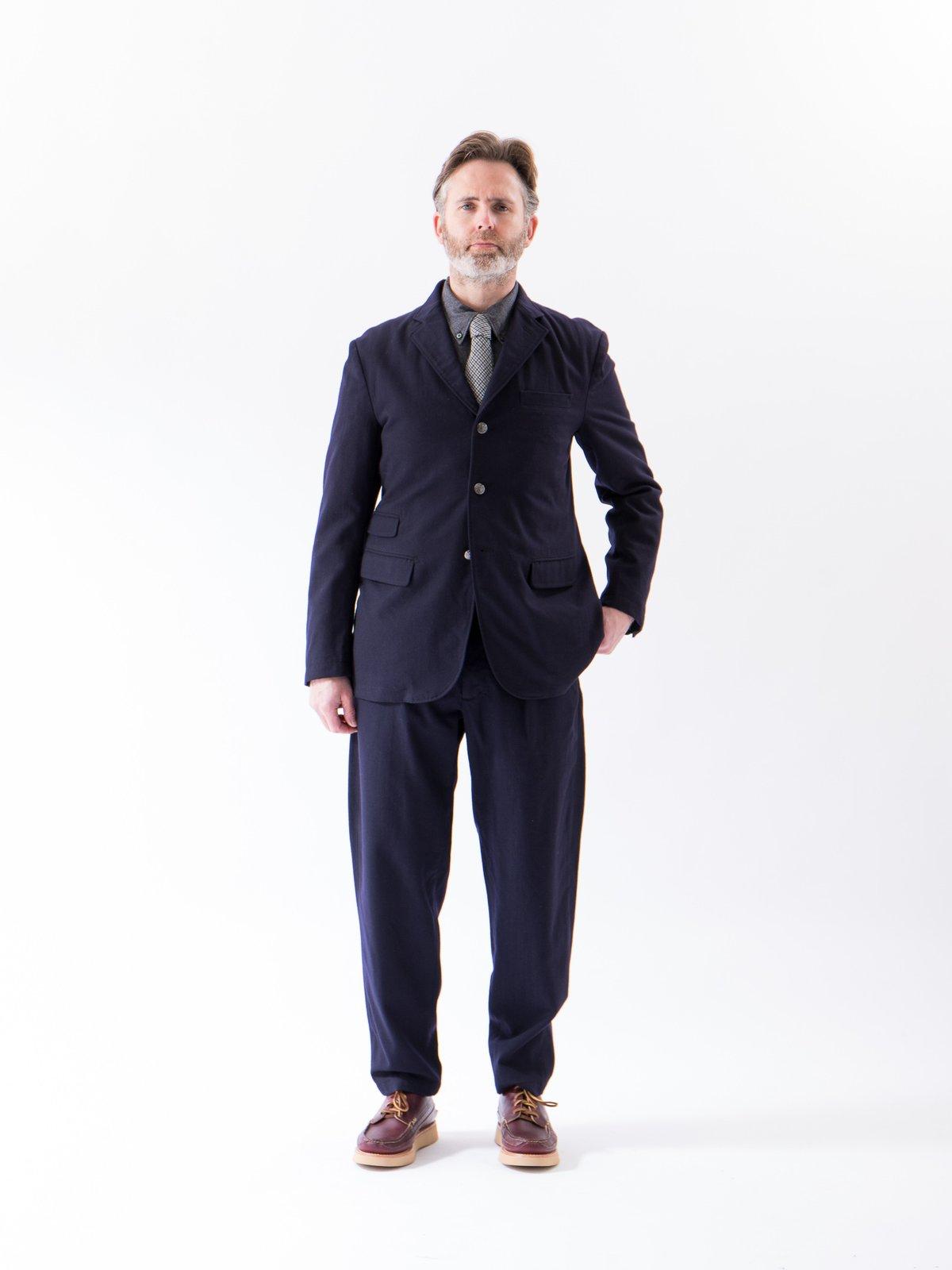 Dark Navy Wool Uniform Serge Carlyle Pant - Image 2