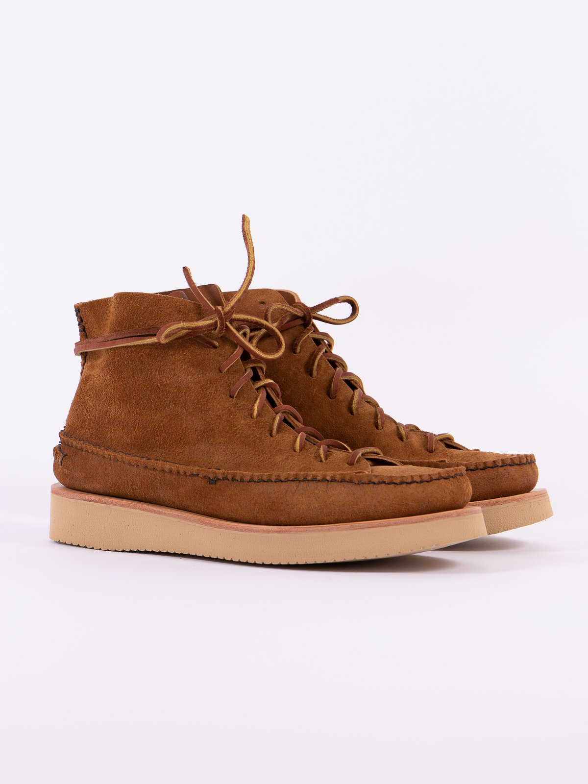 Golden Brown All Handsewn Sneaker Moc High Boot - Image 1