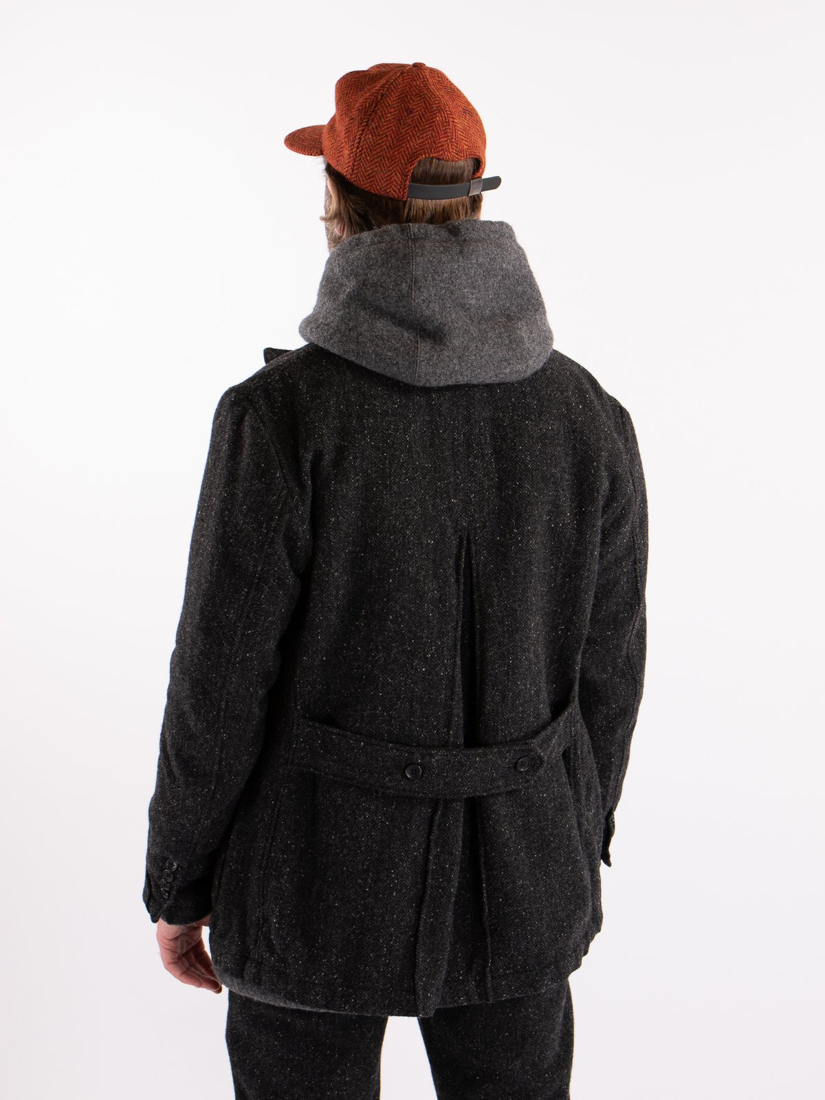 Charcoal HB Tweed Grim Jacket - Image 3