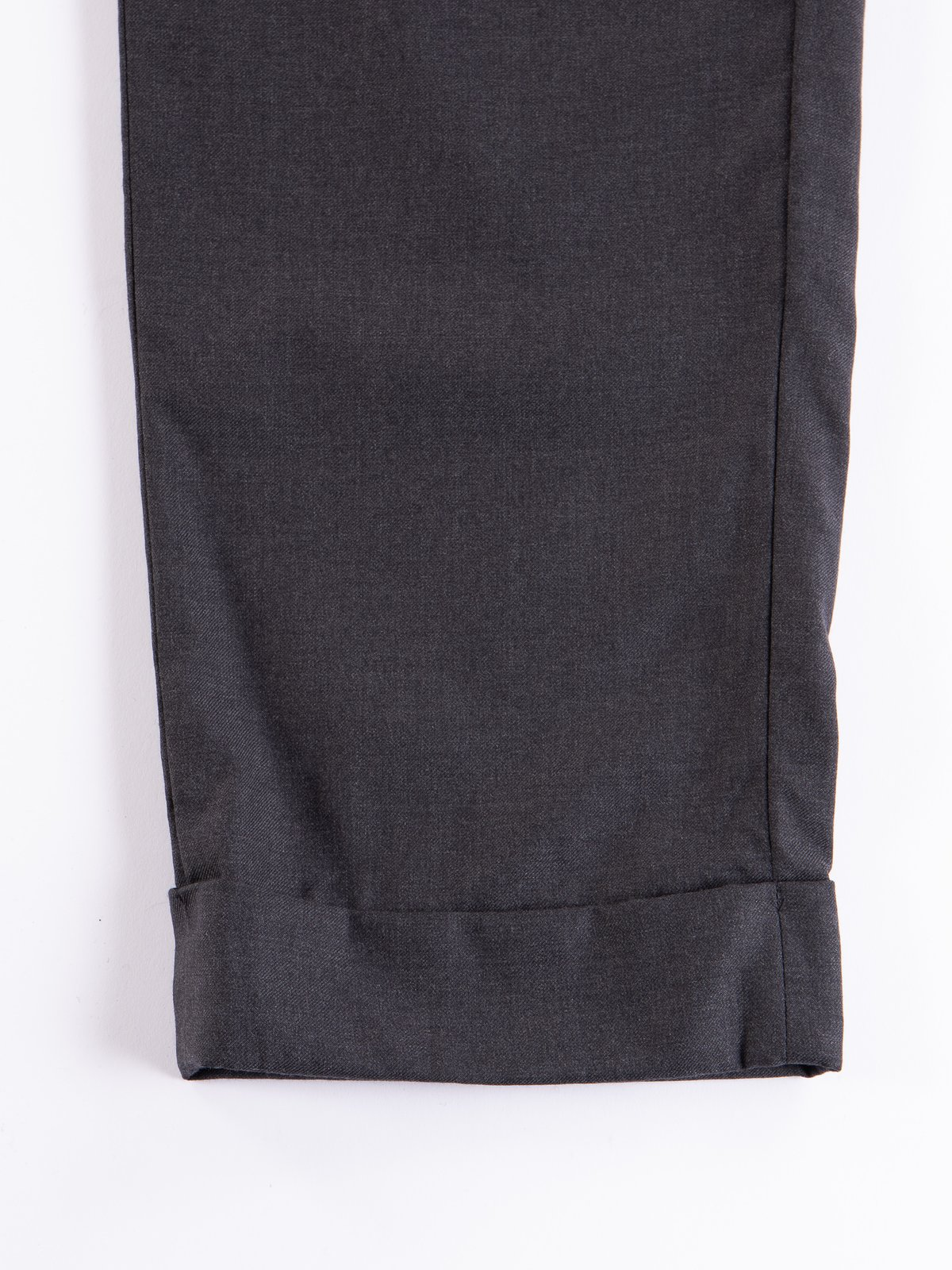 Charcoal Worsted Wool Gabardine Andover Pant - Image 5
