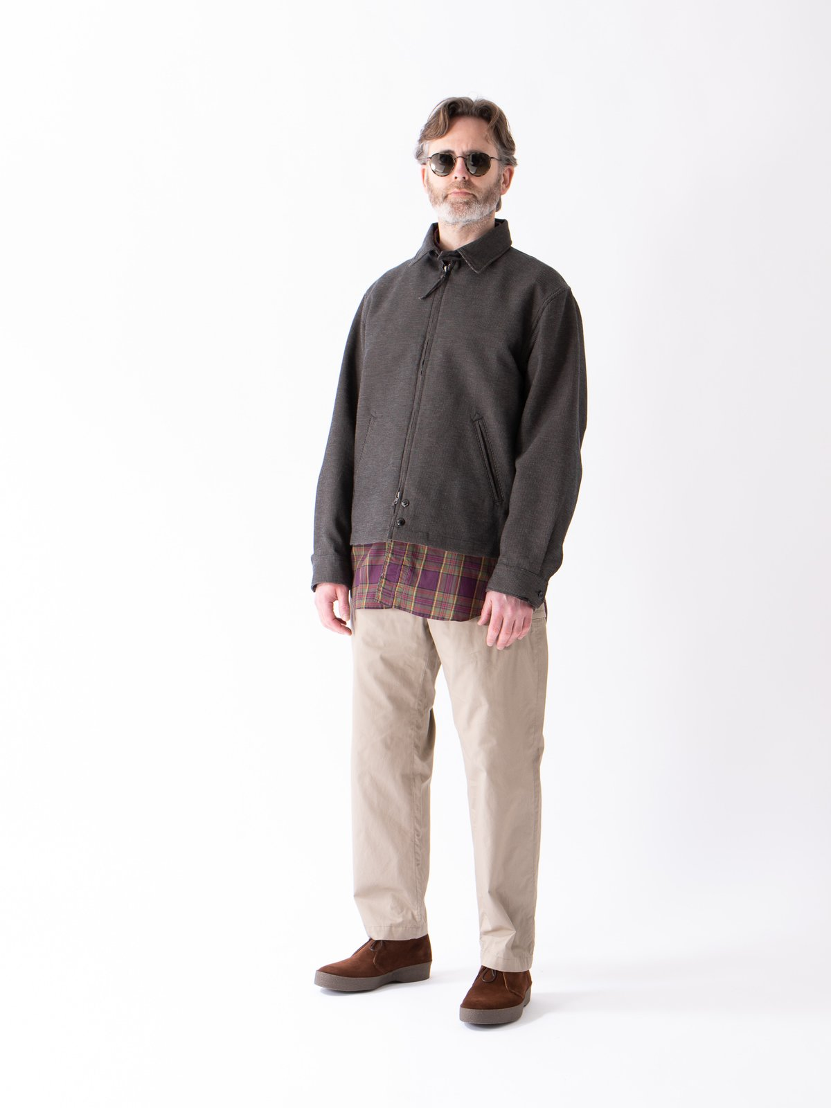 Khaki Highcount Twill Drawstring Pant - Image 3