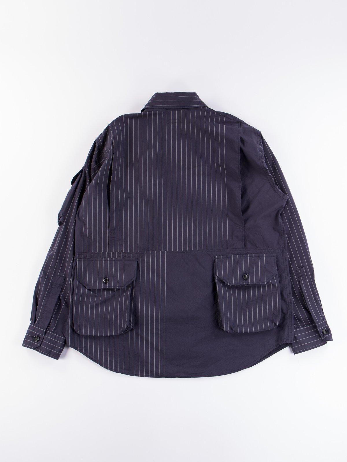 Dark Navy Nyco Gangster Stripe Explorer Shirt Jacket - Image 7