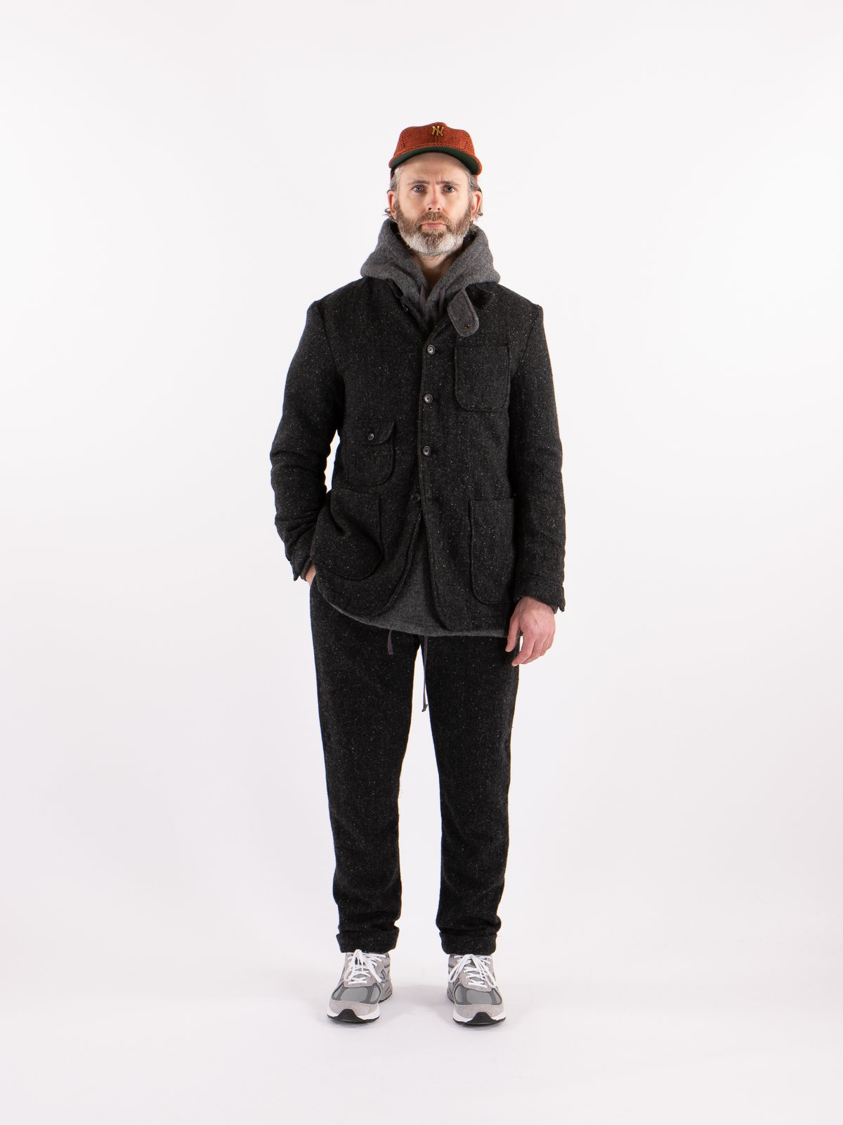 Charcoal HB Tweed Grim Jacket - Image 2