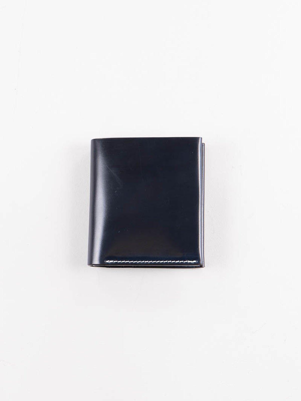 Navy Horween Cordovan 4–4 Wallet - Image 1