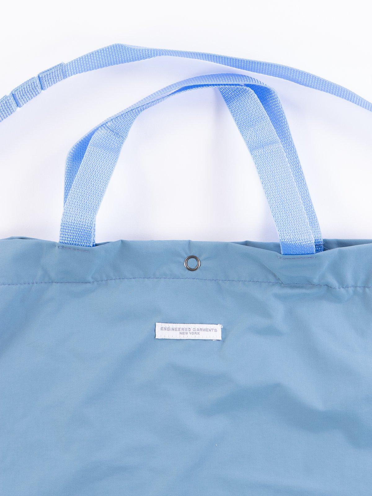 Light Blue Acrylic Coated Nylon Taffeta Carry All Tote - Image 3