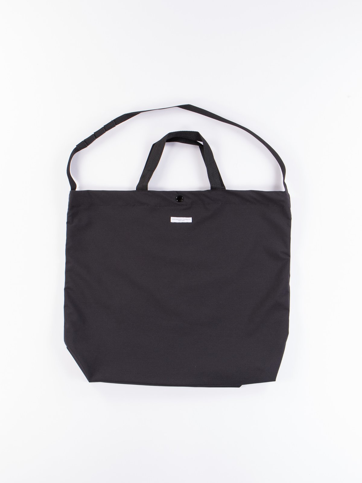 Black Tech Cotton Ripstop Carry All Tote - Image 1