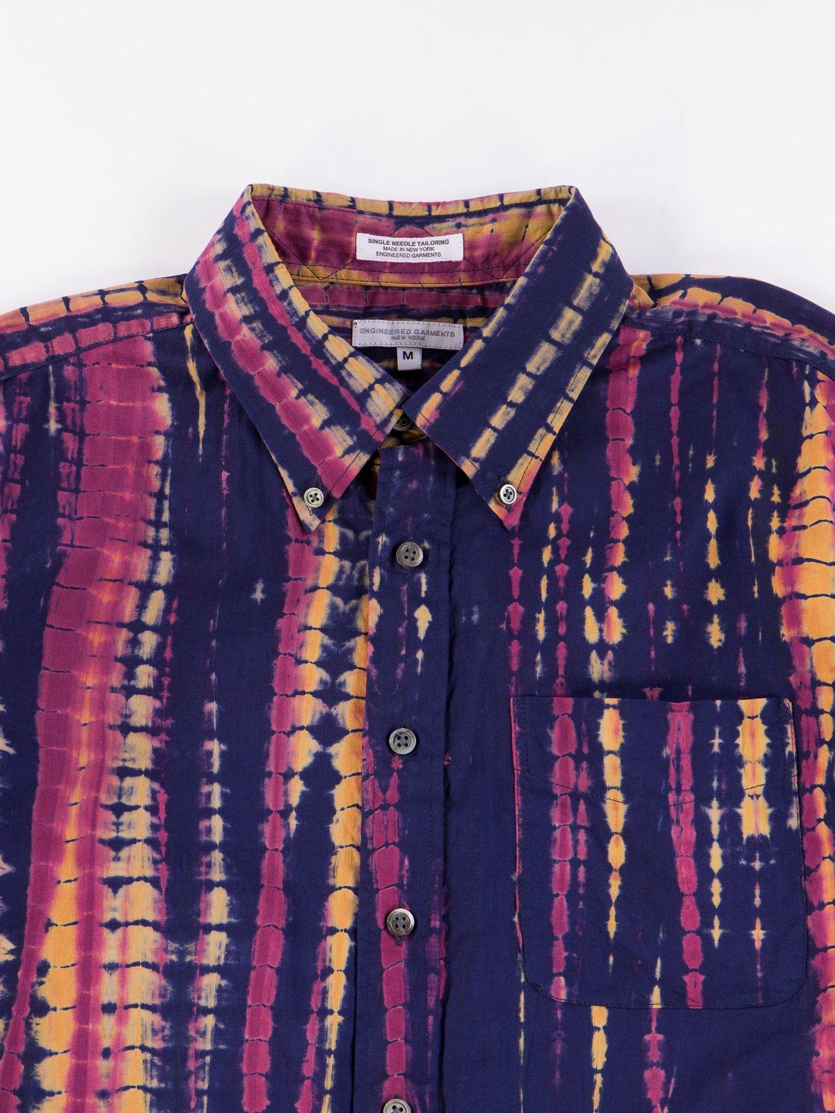 Navy Cotton Lawn Batik Stripe 19th Century BD Shirt - Image 3
