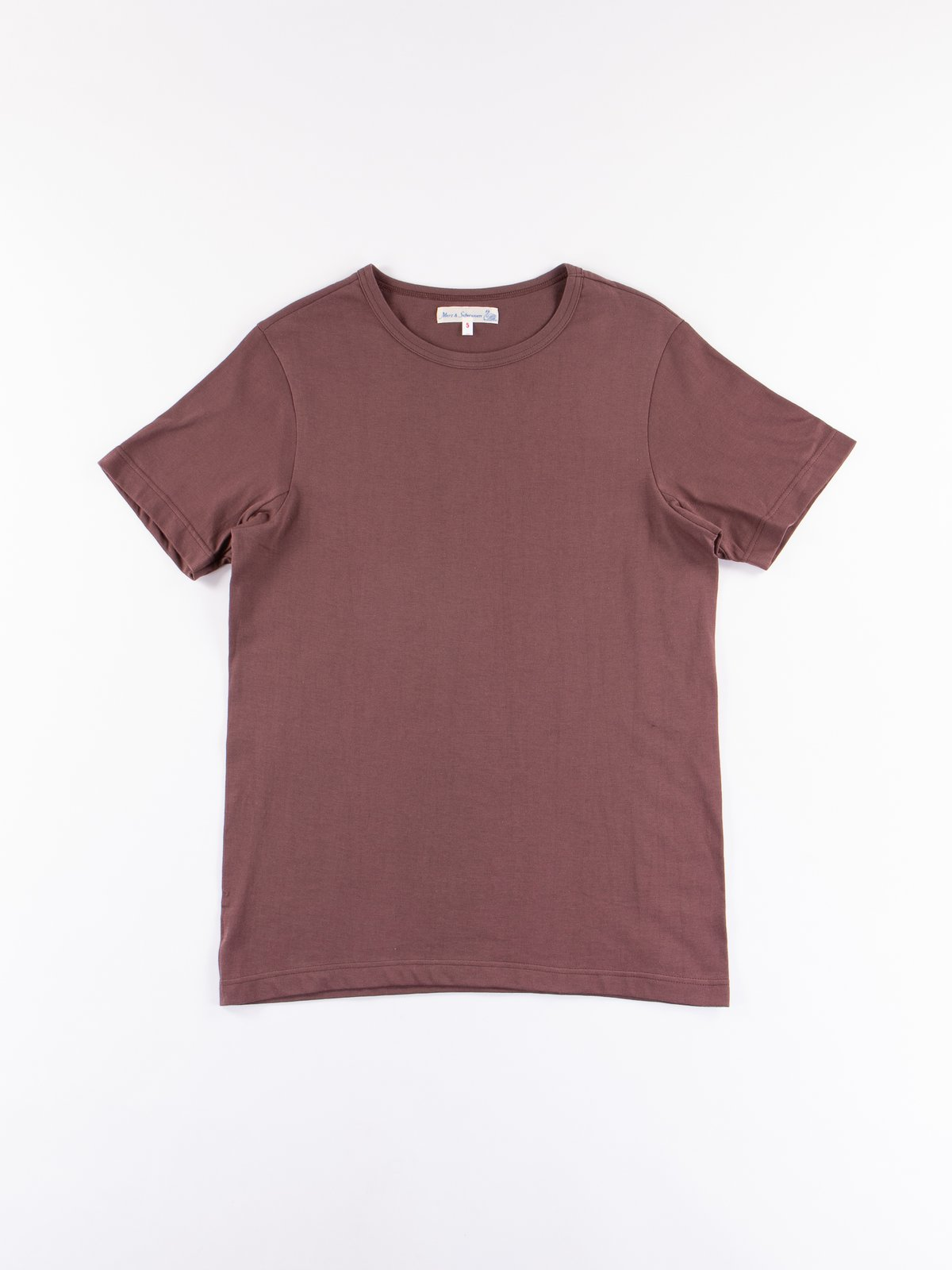 Red Oak 1950s Organic Crew Neck Tee - Image 1