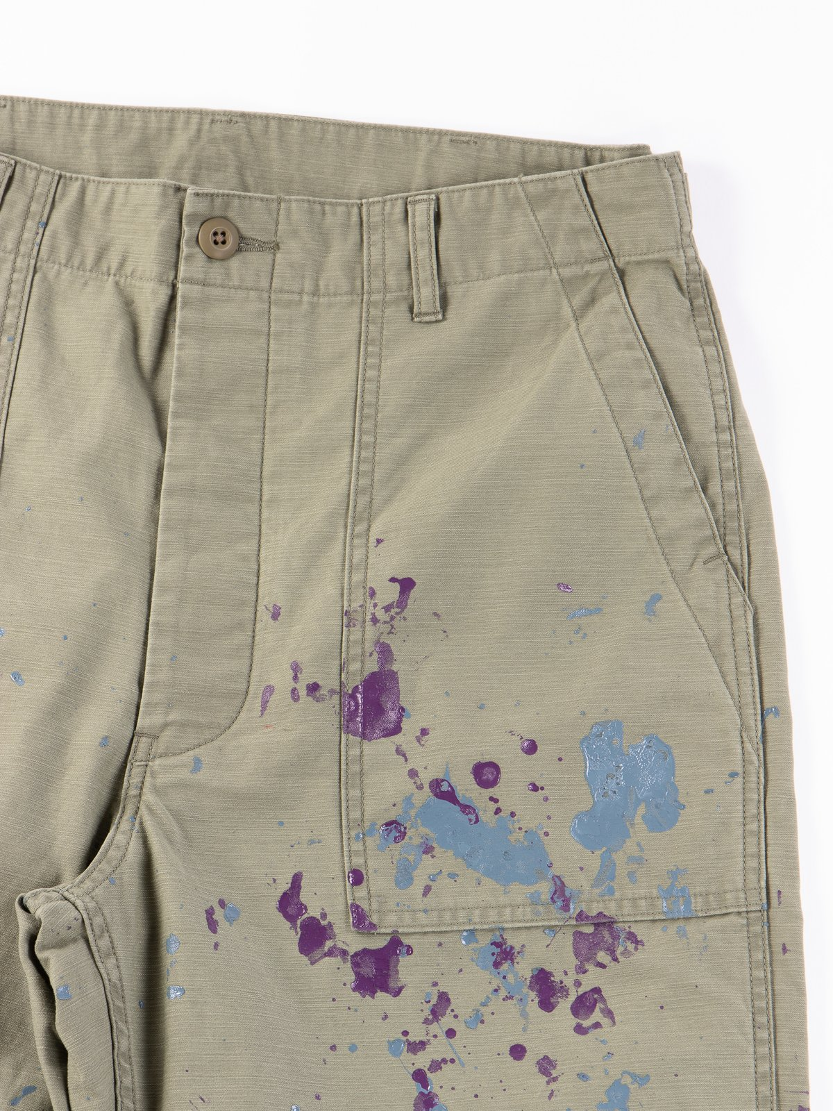 Olive Paint Sateen Fatigue Pant - Image 2