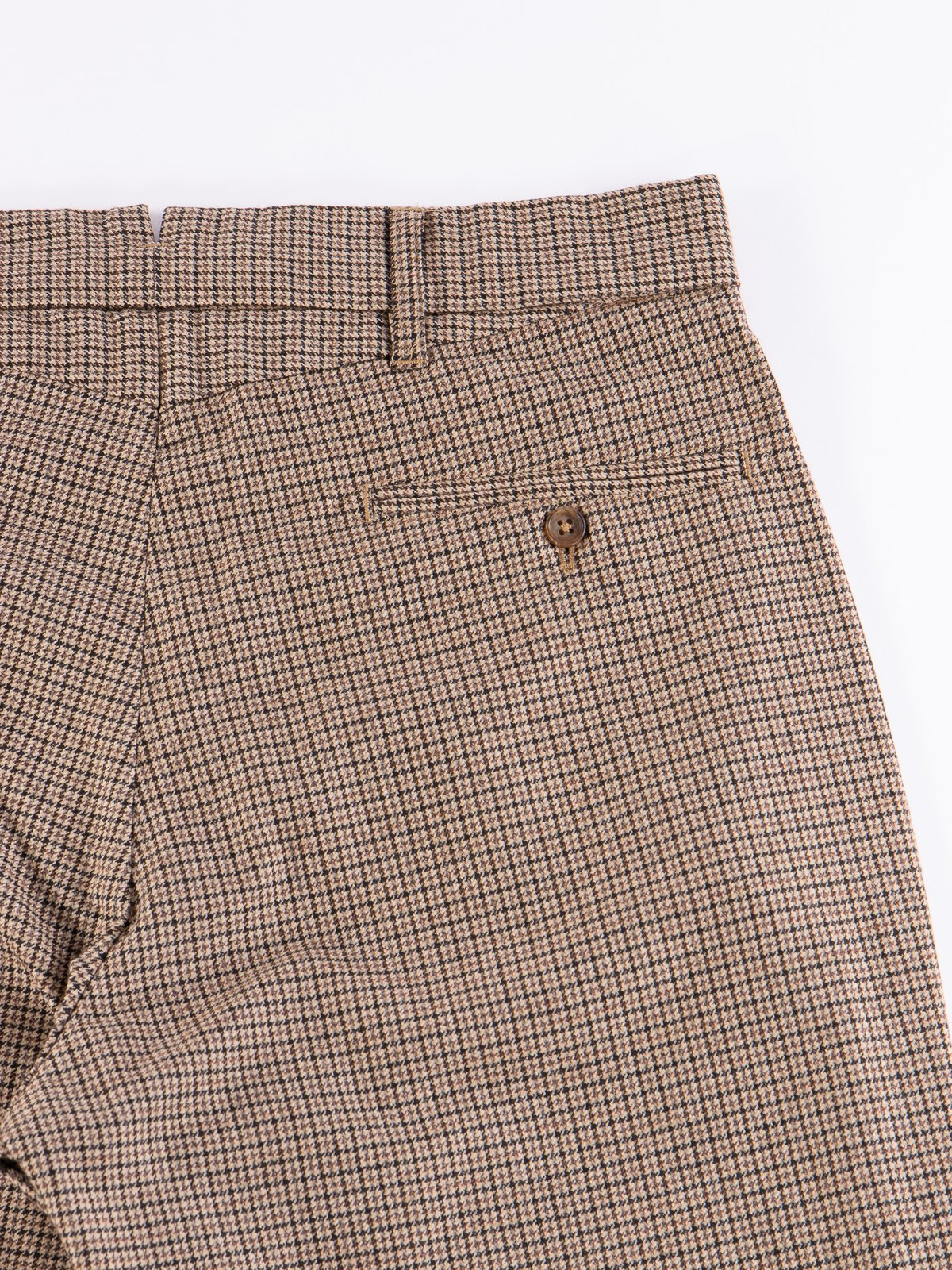 Brown Wool Poly Gunclub Check Andover Pant - Image 6