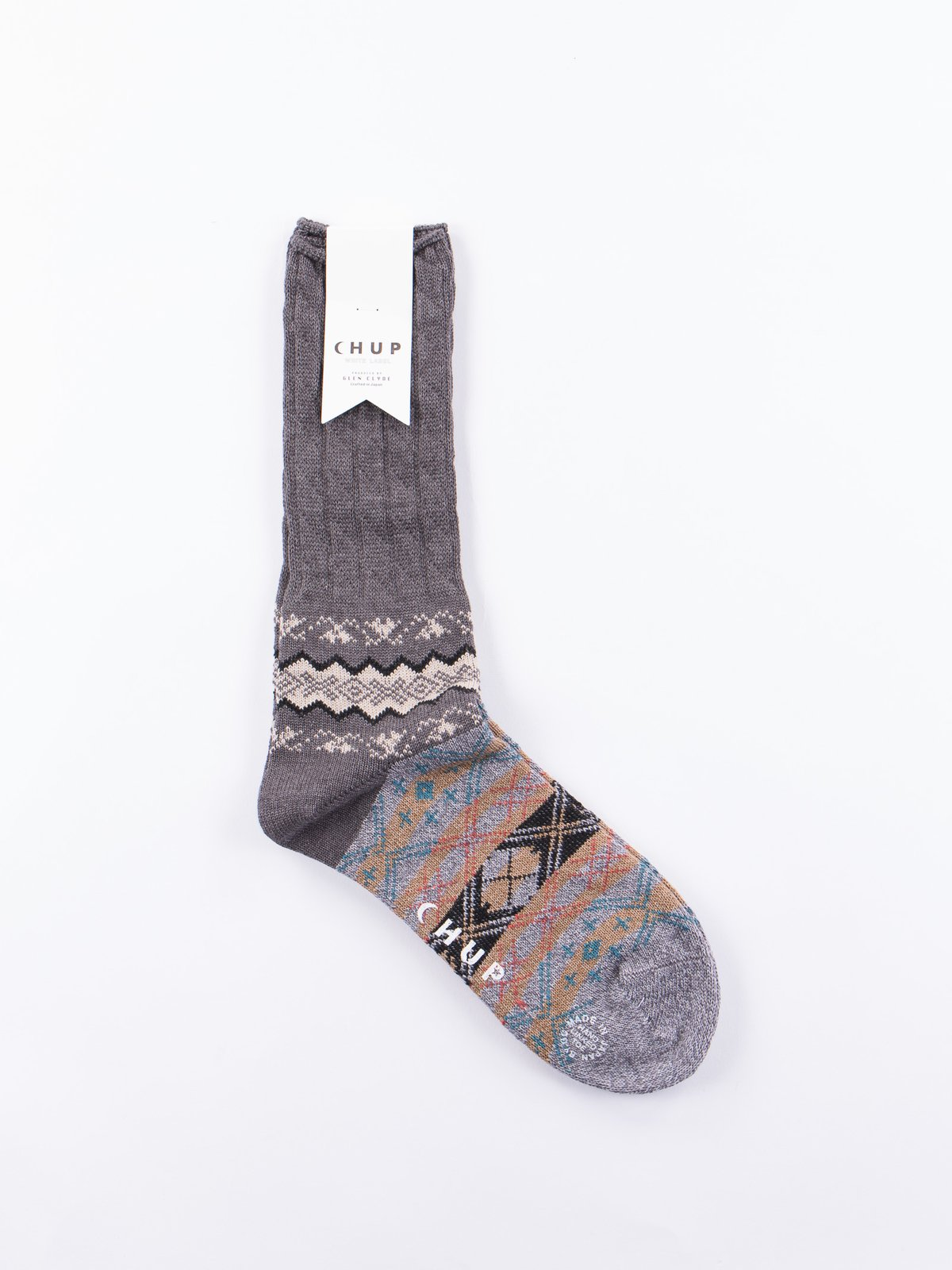 Charcoal Winter Garden Socks - Image 1