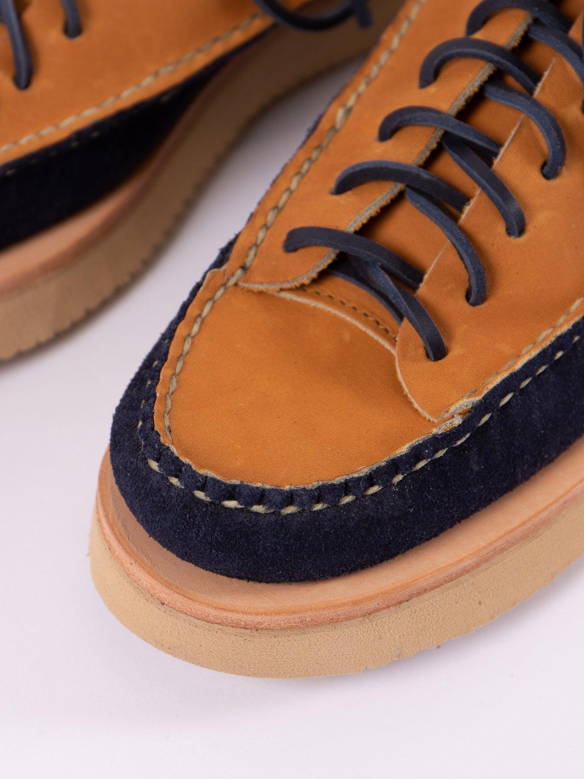 Indigo/Tan All Handsewn Sneaker Moc Ox Exclusive - Image 3
