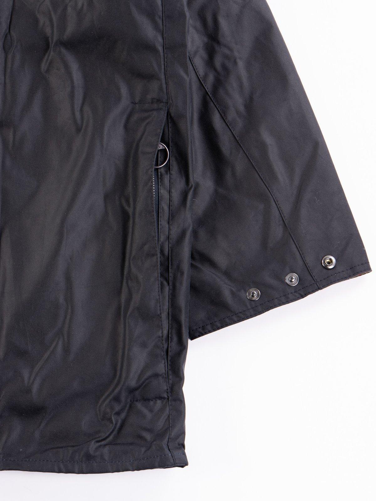 Navy Oversized Beaufort Waxed Cotton Jacket - Image 6
