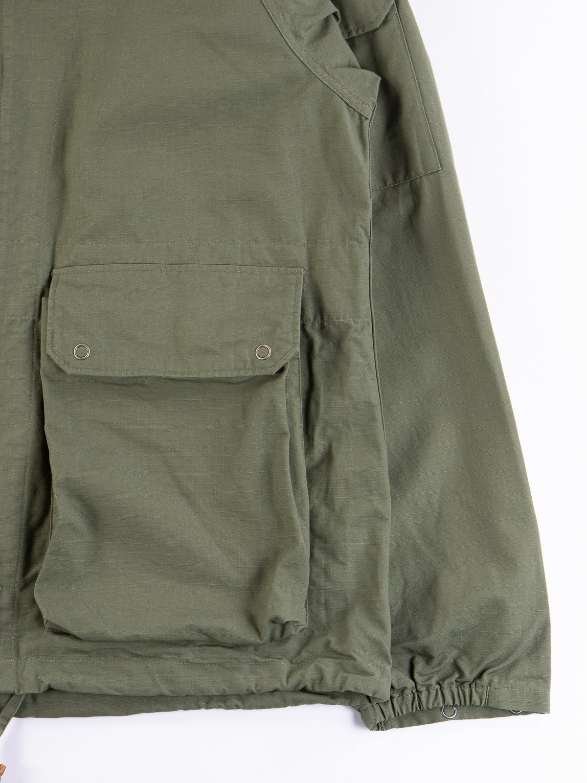 Olive Cotton Ripstop Atlantic Parka - Image 4