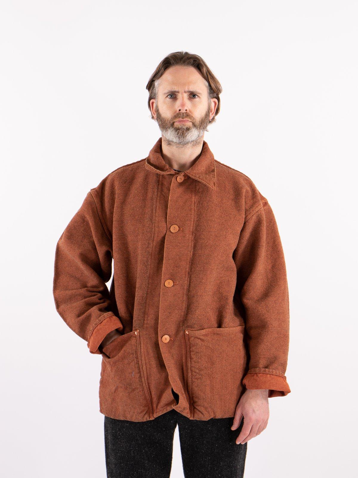 Red Ochre Dye Collared Shepherd's Coat - Image 2