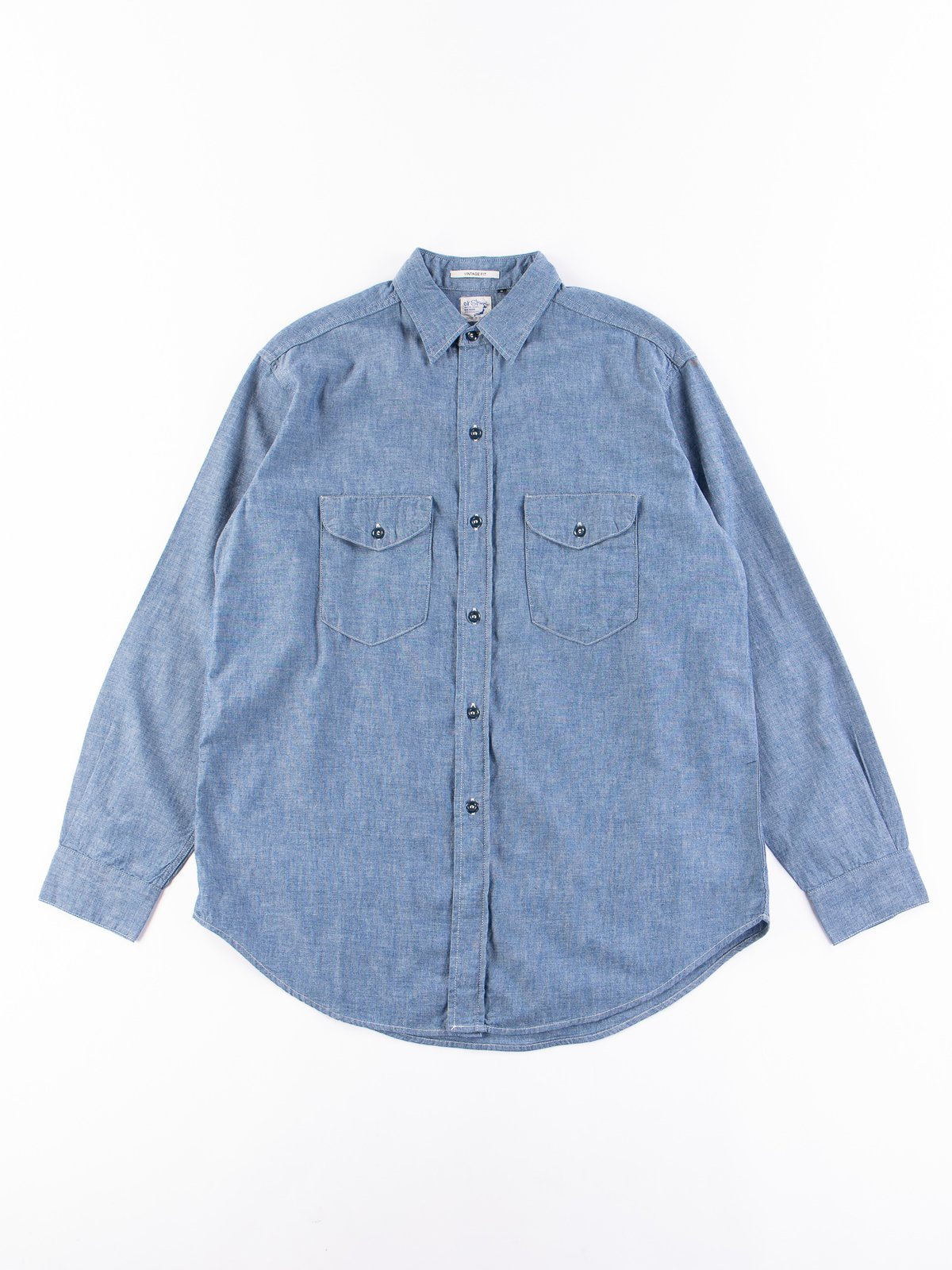 Blue Chambray Vintage Fit Work Shirt - Image 1