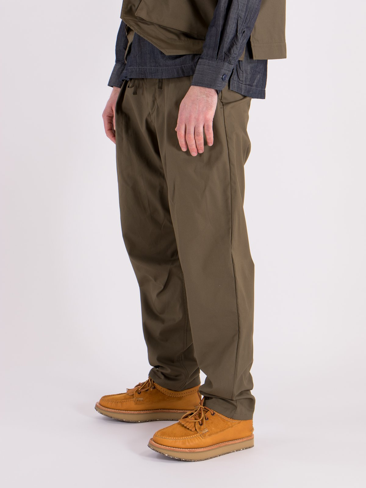 Olive Oxford Vancloth Drop Crotch Pant - Image 2