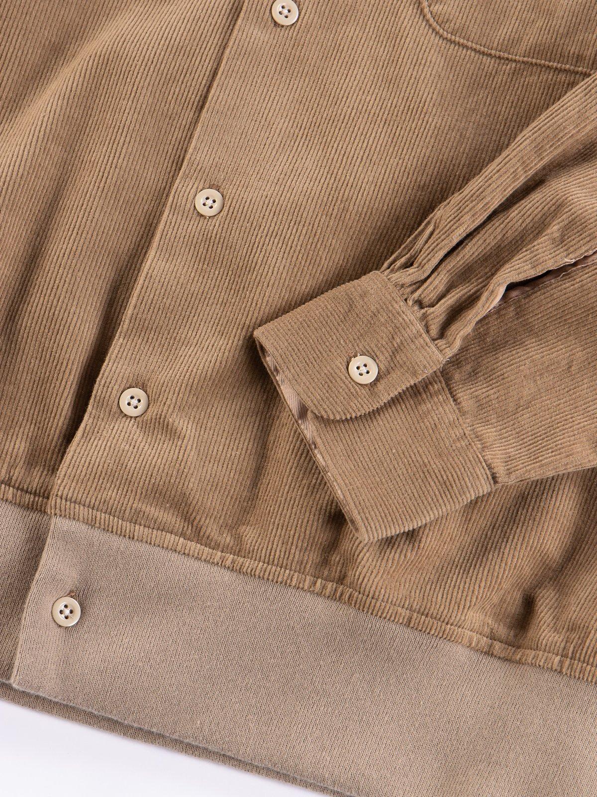Khaki 14W Corduroy Classic Shirt - Image 5