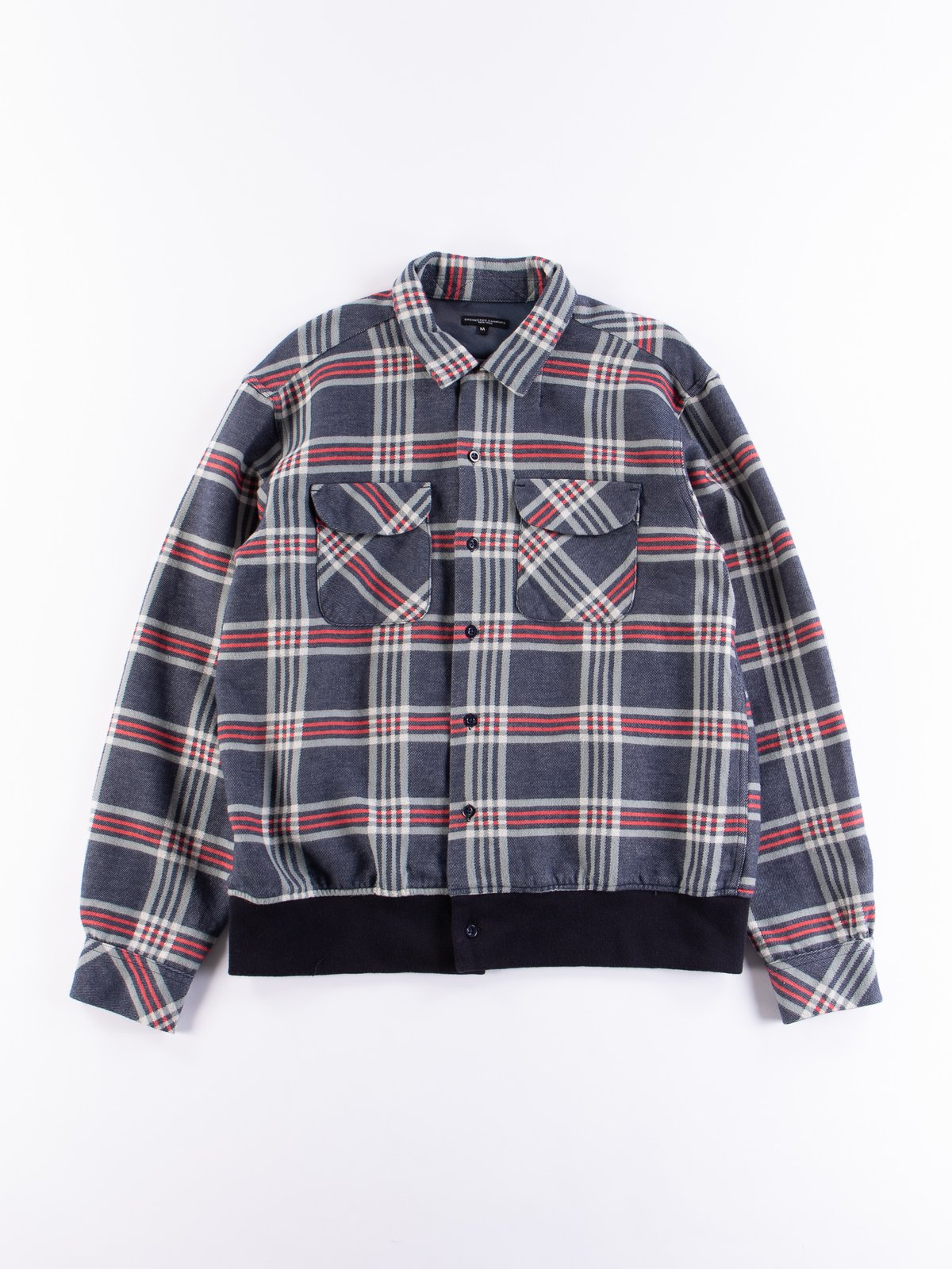 Navy/Teal/Red Big Plaid Classic Shirt - Image 1