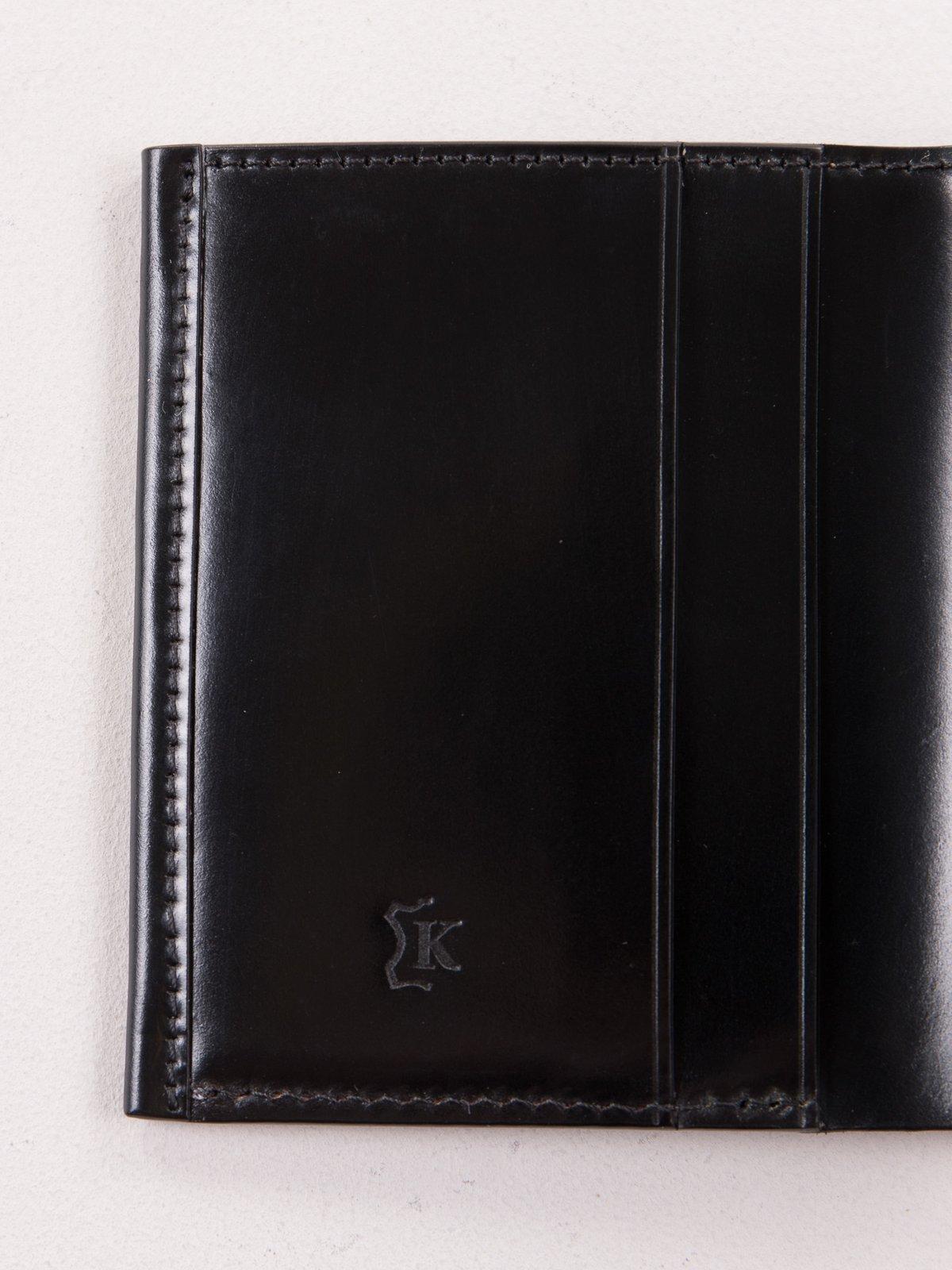 Black Horween Cordovan 2–2 Wallet - Image 3