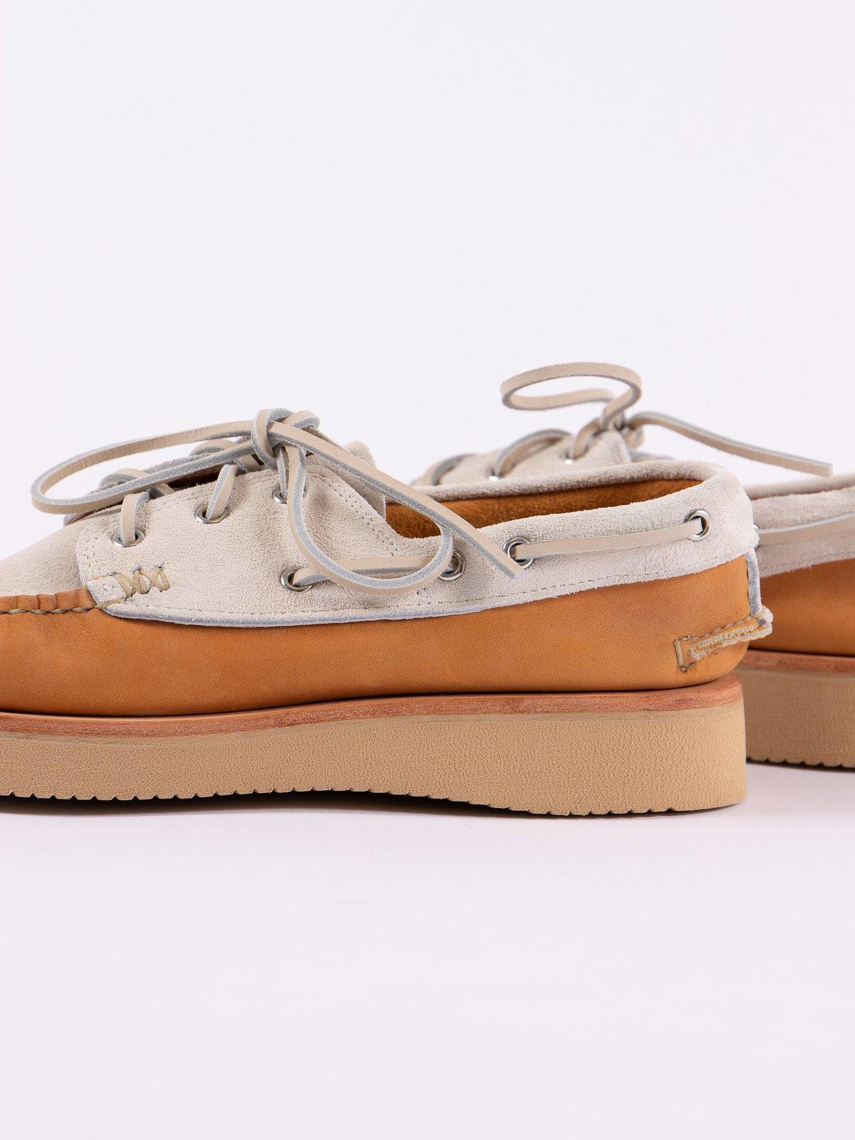 BB Tan/FO White Boat Shoe Exclusive - Image 4