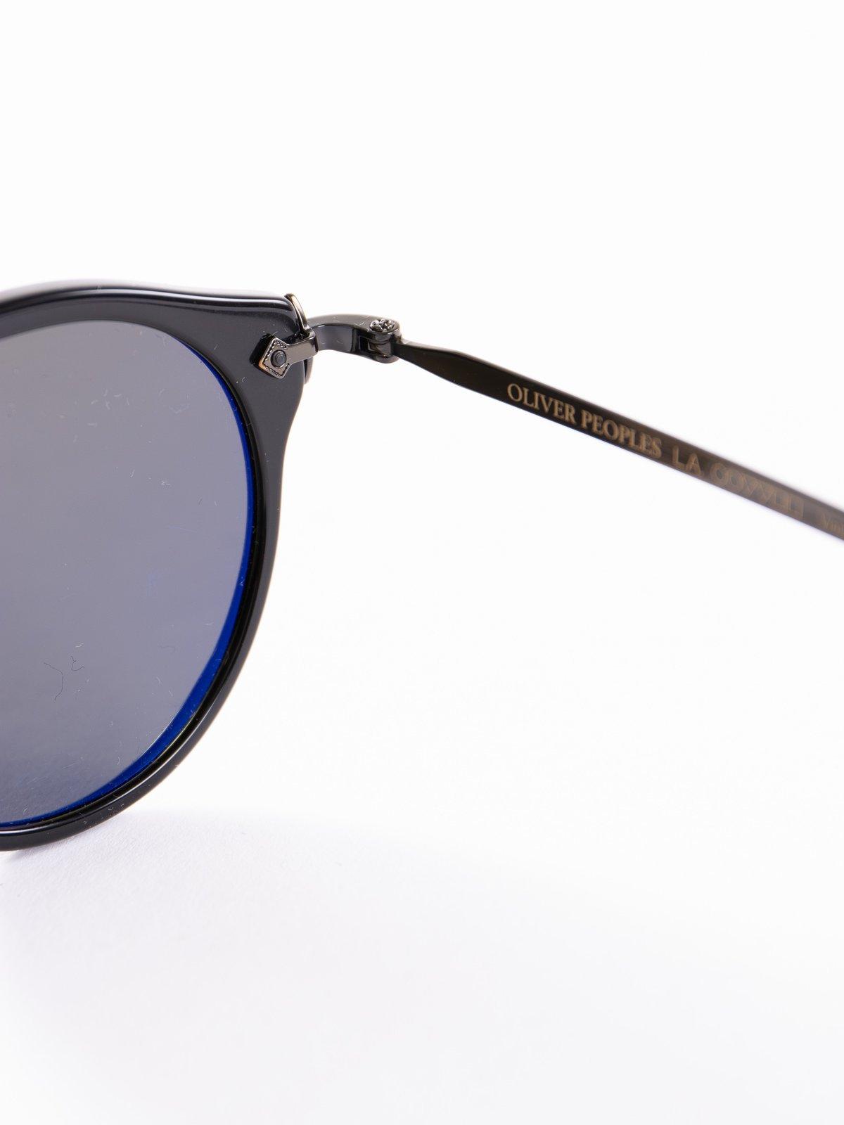 Black–Antique Gold/Green OP–505 Sunglasses - Image 4