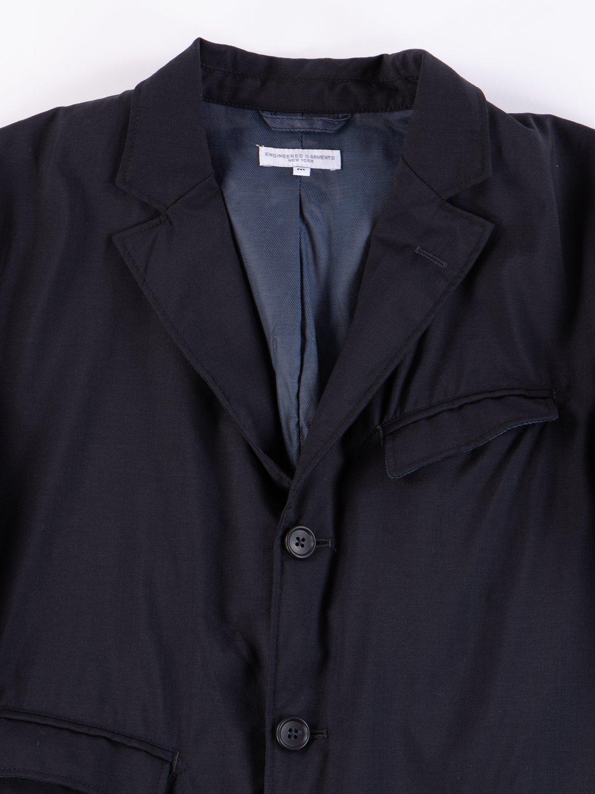 Dark Navy Tropical Wool Andover Jacket - Image 3