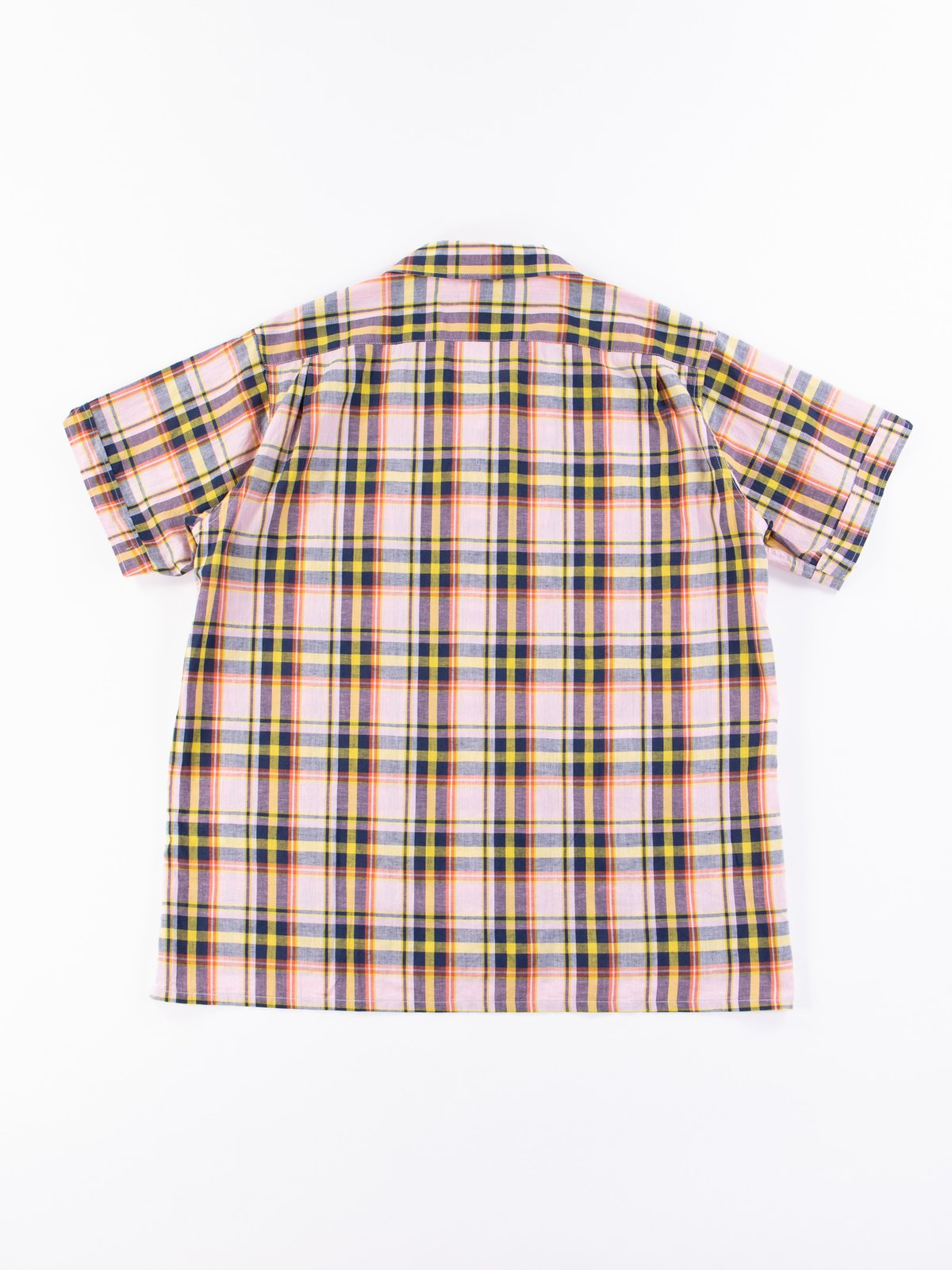Pink/Yellow CL Madras Plaid Camp Shirt - Image 6