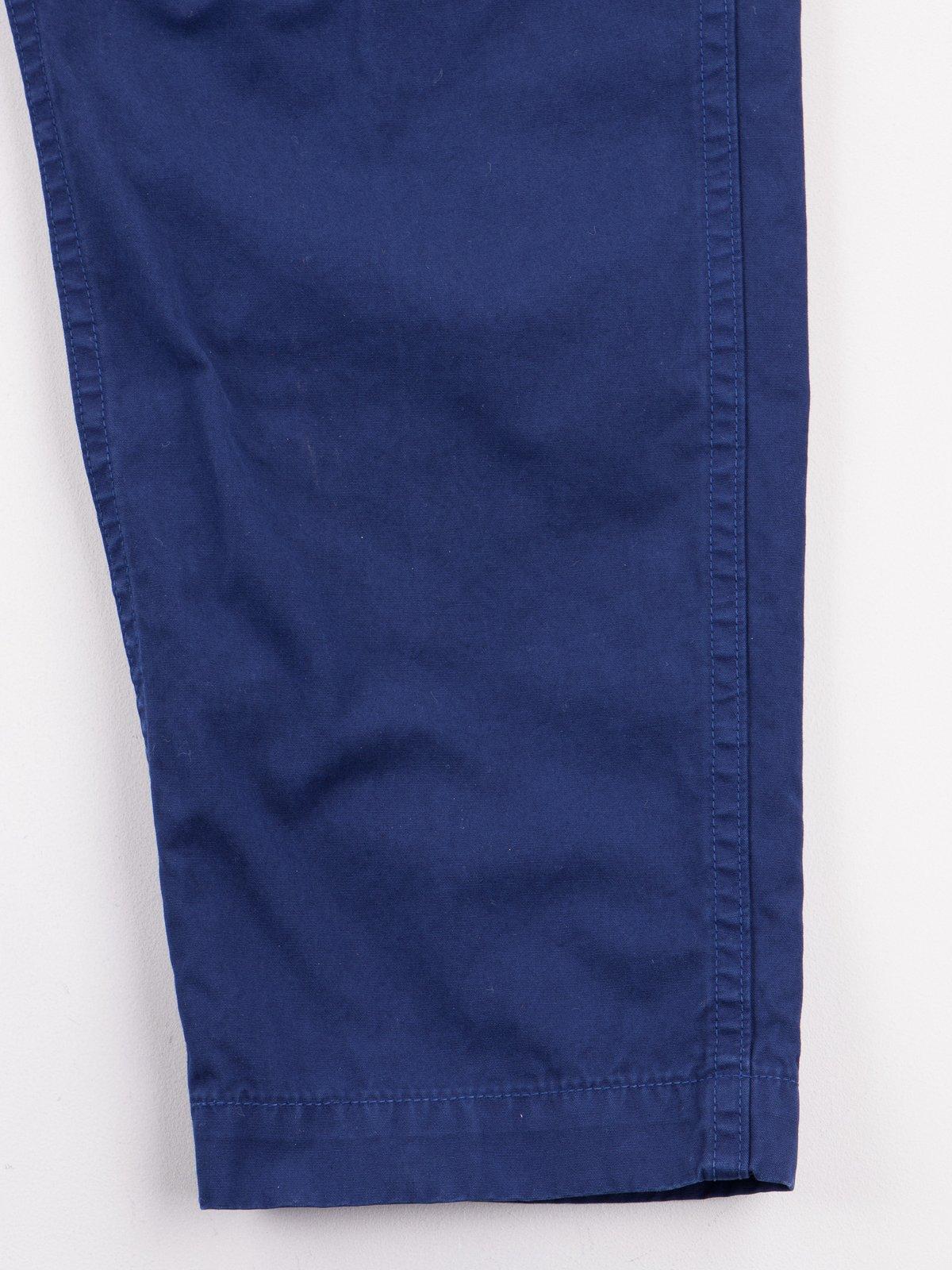 Ink Blue Poplin Easy Cargo Pant - Image 6