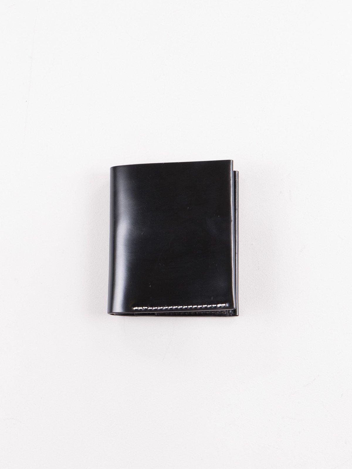 Black Horween Cordovan 2–2 Wallet - Image 1