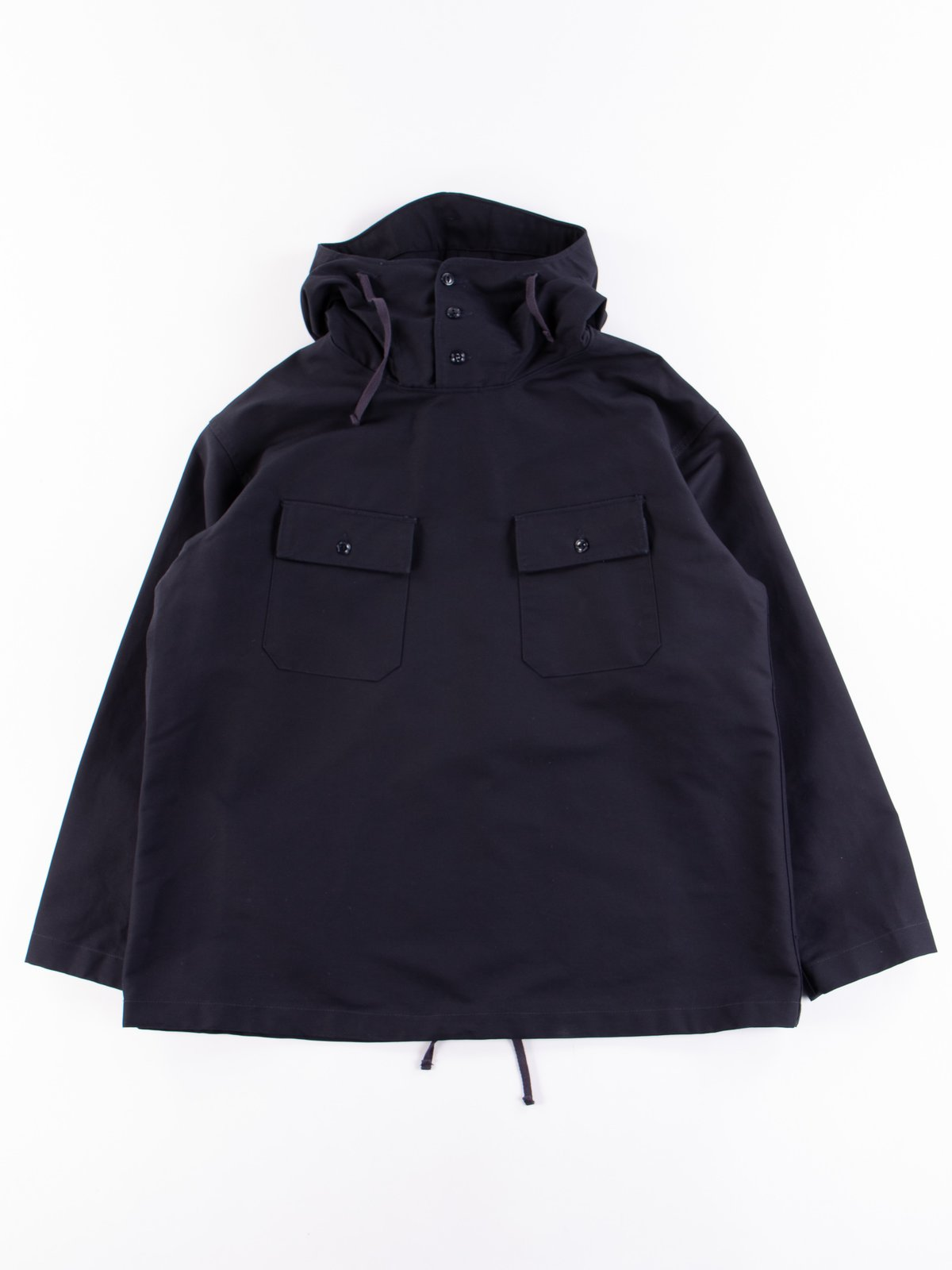 Navy Cotton Double Cloth Cagoule Shirt - Image 1